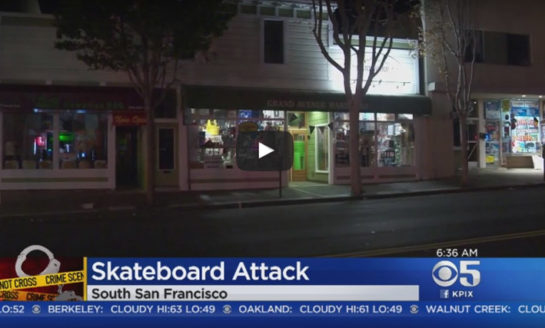 Calif. officer in critical condition after skateboard attack