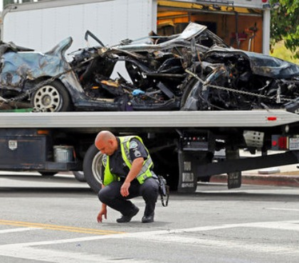 2 Calif. suspects killed in fiery crash along Hollywood Boulevard