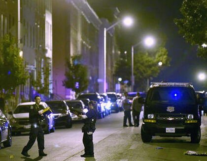 Baltimore Police: 8 wounded in attack, 3 shooters still at large
