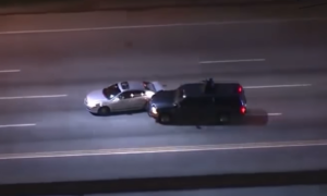 Officers perform a PIT maneuver