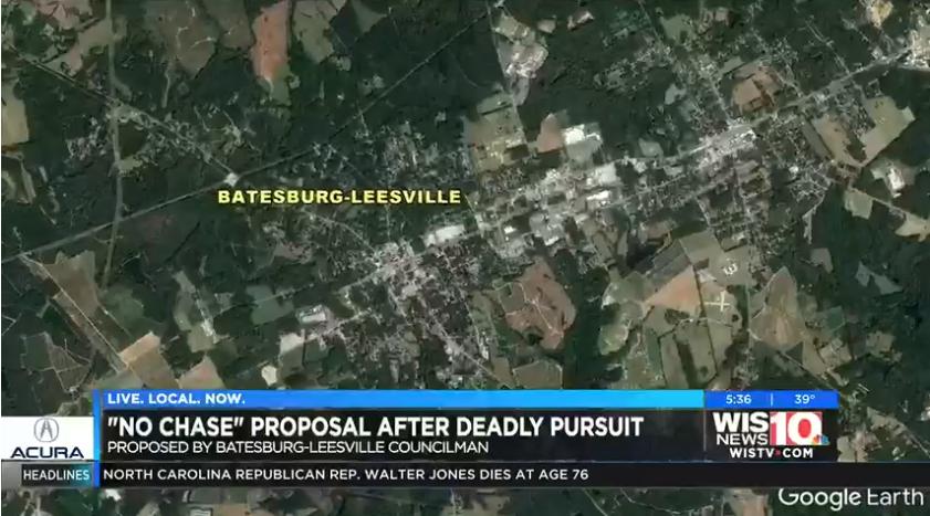 Batesburg-Leesville councilman proposes 'No Chase' police policy