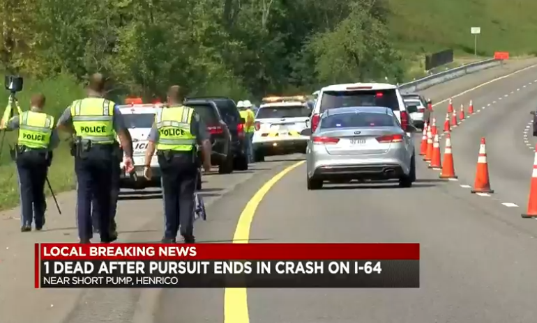 1 killed in crash after bank robbery suspect leads police on chase