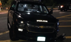 Agawam police officer suffers minor injuries, 2 juveniles arrested after vehicle chase ends with wrong-way crash on rotary
