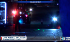 1 dead after chase, fiery crash