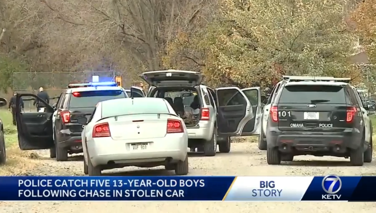 5 teens arrested after police chase, manhunt Sunday afternoon