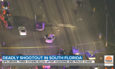 Chase and shootout involving hijacked UPS truck in Florida lead to four deaths